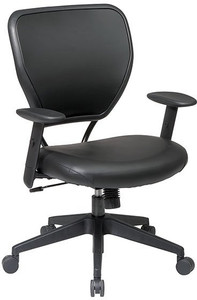 Black Vinyl Over Air Grid® Back Task Chair