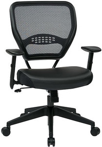 Air Grid® Back Executive Chair with Black Eco Leather Seat