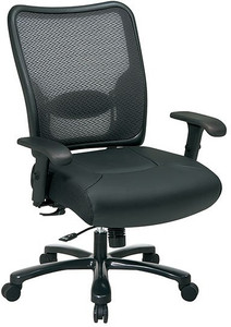 Big & Tall Dual Layer Air Grid® Back and Leather Seat Chair