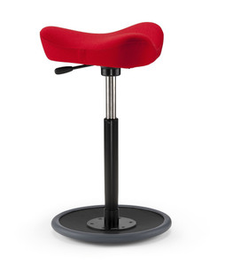 Varier Move Kids Ergonomic Stool in Revive Red with black base