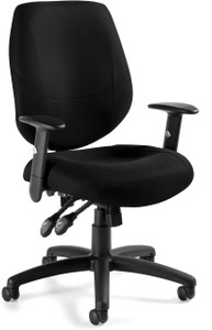 Offices To Go Multi-Function High-Back Chair with Height Adjustable Lumbar Support