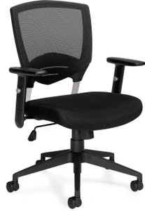 Offices To Go Mesh Back Executive Chair with Height Adjustable Arms