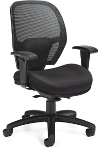 Offices To Go Mesh Back Weight-Sensing Synchro-Tilt Chair