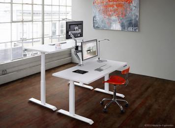 Workrite Sierra HX Sit Stand Workcenter Height adjustable