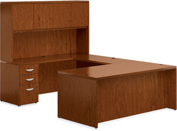 Ventnor Wood Veneer VF-B Desk Suite in Toffee (TCH)