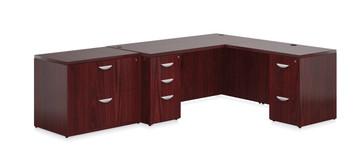 Ventnor Wood Veneer VF-E Desk Suite in Cordovan (CCH)