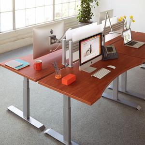 Workrite Fundamentals Sit Stand Workcenter Shown w/ Concave Edge
