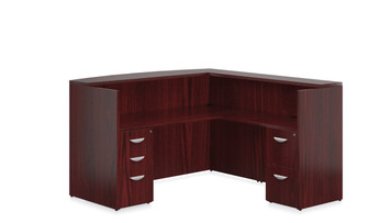 Ventnor Wood Veneer VF-F Desk Suite in Cordovan (CCH)