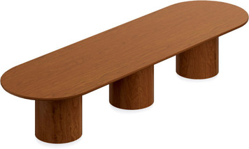 Ventnor Wood Veneer 14' Racetrack Conference Table in Toffee (TCH)