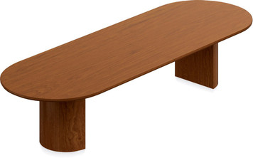 Ventnor Wood Veneer 12' Racetrack Conference Table in Toffee (TCH)