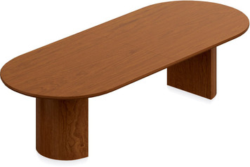 Ventnor Wood Veneer 10' Racetrack Conference Table in Toffee (TCH)