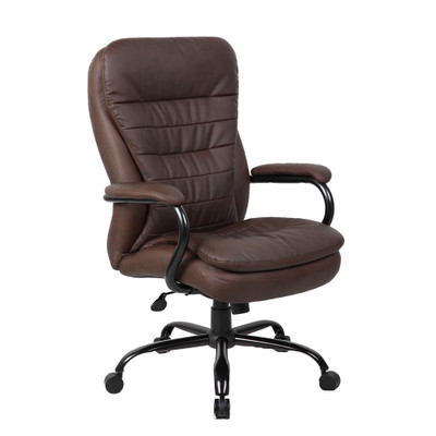 Big U0026 Tall Pillow Top Executive Chair In Brown Leather Plus
