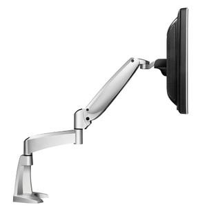 Workrite Ergonomics Poise Single Monitor Arm in silver finish