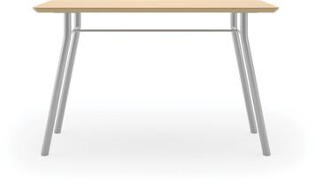 "Lesro 48"" Rectangular High Pressure Laminate Conference Table in Natural High Pressure Laminate Finish and silver legs"