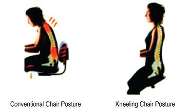 Jobri Solace Plus Memory Foam Kneeling Chair OfficeChairsUSA - Posture chair