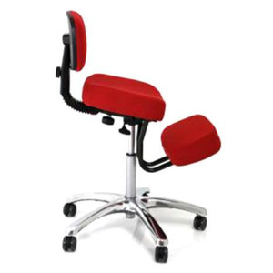 Jobri Jazzy Memory Foam Kneeling Chair in Red