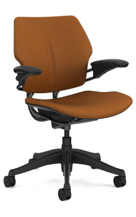 Gentil Humanscale Freedom Task Chair With Graphite Frame Promessa Bronze  Ultraleather