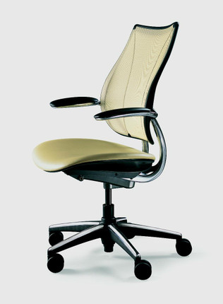 Humanscale Liberty Task Chair Shown In A Polished Aluminum Frame And One Of The Many Seat Fabrics