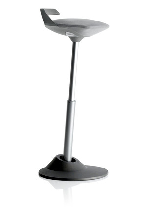 Via Muvman Standing Support Stool in Grey Seat and Black Base
