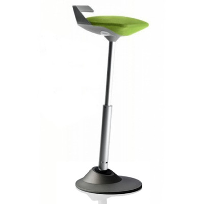 Via Muvman Standing Support Stool in Green Seat and Black Base