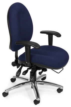 OFM 24/7 Big U0026 Tall Computer Task Chair In Blue Fabric