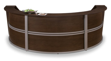 Marque Triple Unit Reception Station in Walnut