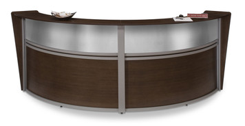 Marque Plexi Double Unit Reception Station in Walnut Approach