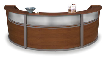 Marque Plexi Triple Unit Reception Station in Cherry