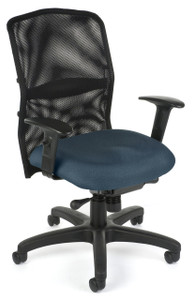 610 AirFlo Mesh Task Chair in Blue 8172 Seat