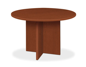 "basyx by Hon Round 48"" Laminate Conference Table in Medium Cherry (A1)"