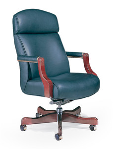 Austin Traditional Swivel Open Arm W/ Light Cherry Frame And Base