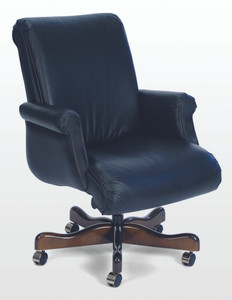 Belmont Traditional Mid Back Conference Chair in Rio Bright Navy