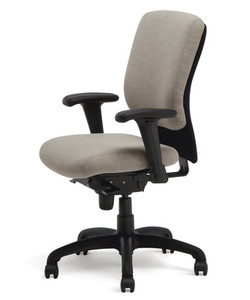 Shown w/ Simple Seat Synchro-tilt Mechanism & Seat Slider w/ Height & Width Adjustable Arms