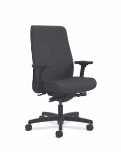 Endorse Upholstered Mid-Back, black CU10 fabric