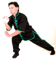 ¾ Sleeve Uniform w/green Trim - Jacket & Pants #588G