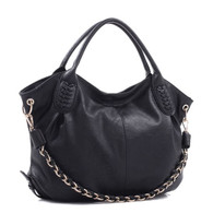 Concealed Carry Hobo bag w/Chain - Black
