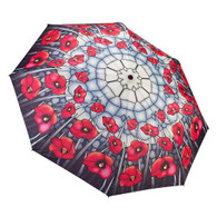 Stained Glass Poppies Umbrella