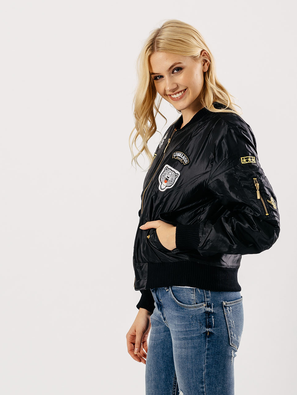 Black Badges Bomber Jacket