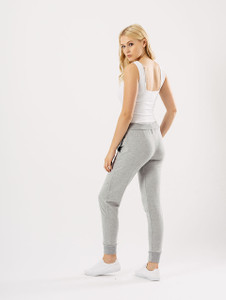 Light Grey Sweat Pant With Black Tie