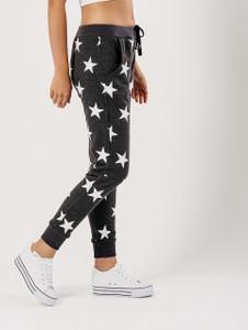 Charcoal Star Print Joggers
