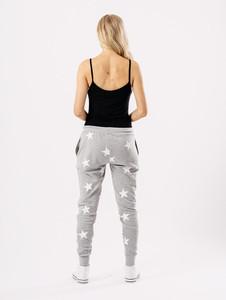 Grey Star Print Joggers
