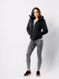 Black Padded Puffer Coat