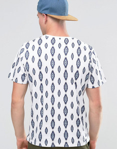 Geometric Print Crew Neck T-Shirt