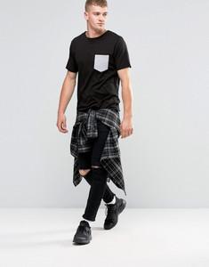 Contrast Pocket Detail Crew Neck T-Shirt