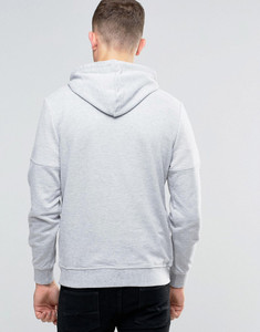 Ribbed Shoulder Detail Hooded Top