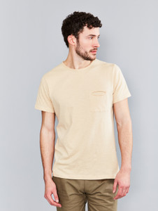 Stone Raw Edge Slub Pocket T-Shirt