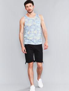 Blue Tropical Palm Pocket Vest