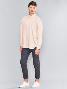 Pink Oversized Long Sleeve Shirt