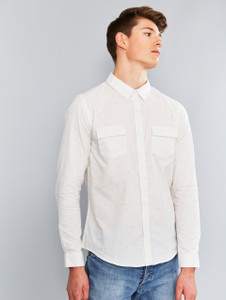 White Multi Nep long Sleeve Shirt