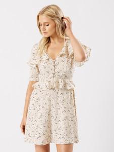Multi Frill Ruffle Summer Tea Dress